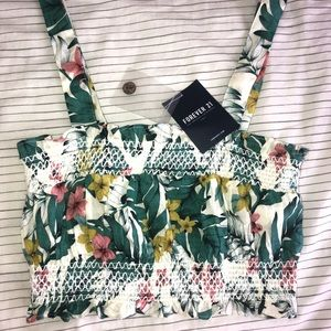 Forever 21 tropical crop top